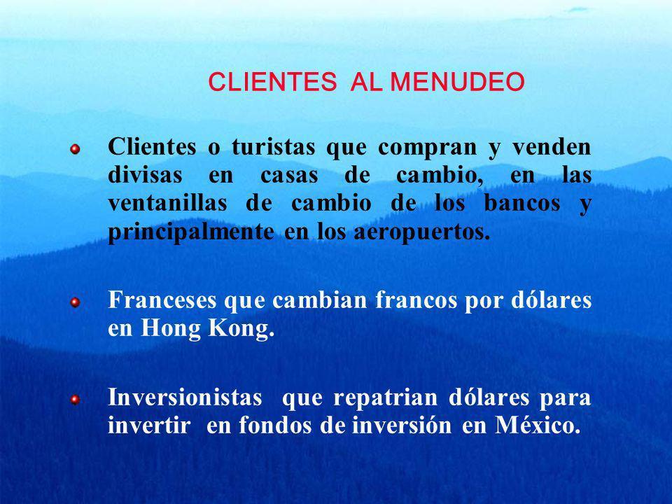 CLIENTES AL MENUDEO