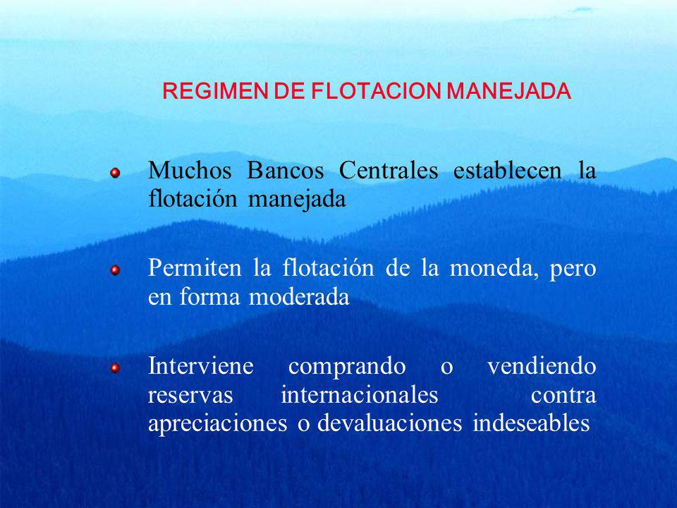 REGIMEN DE FLOTACION MANEJADA