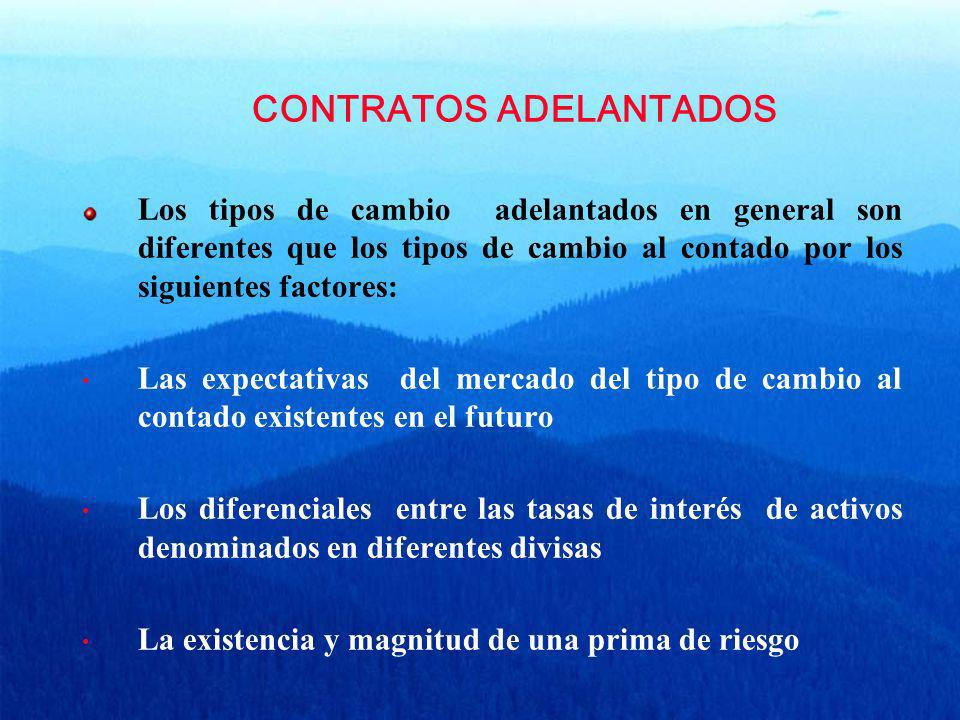 CONTRATOS ADELANTADOS