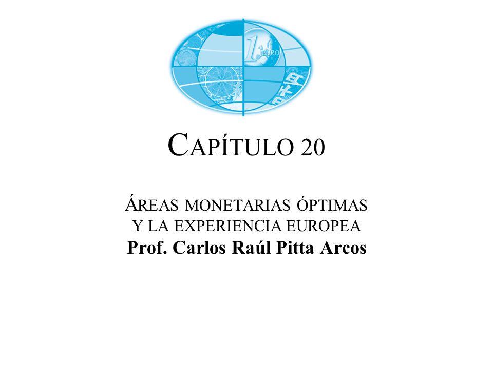CAPÍTULO 20 ÁREAS MONETARIAS ÓPTIMAS Y LA EXPERIENCIA EUROPEA Prof