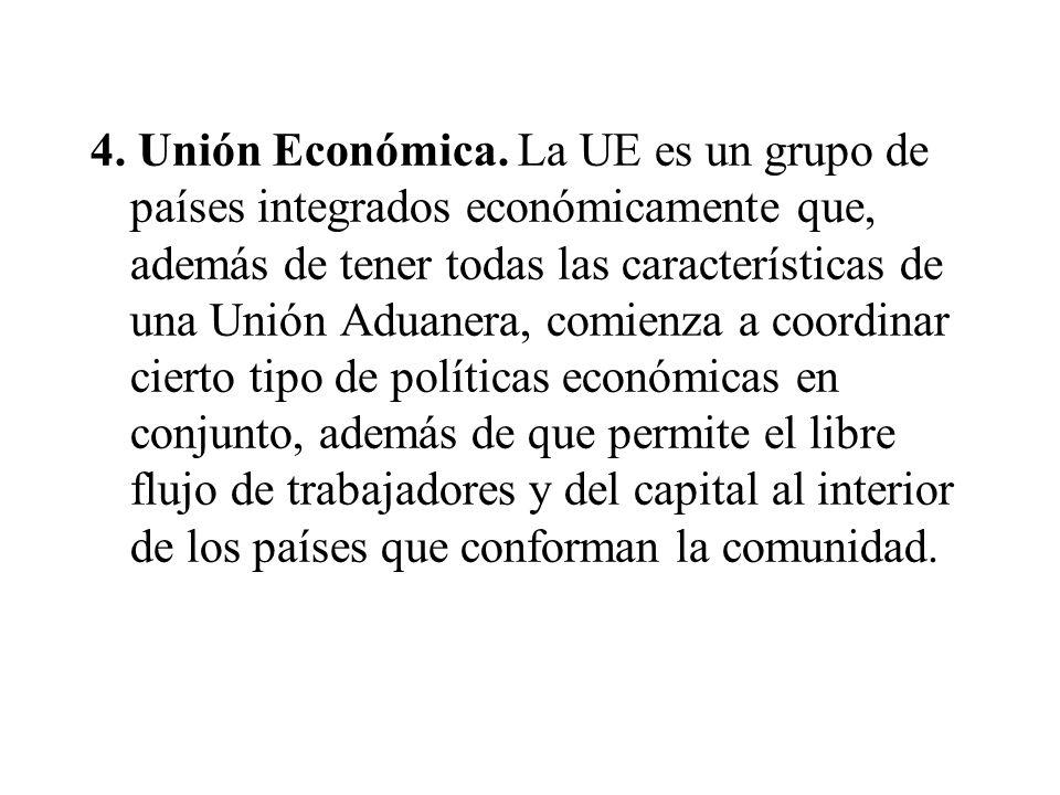 4. Unión Económica.