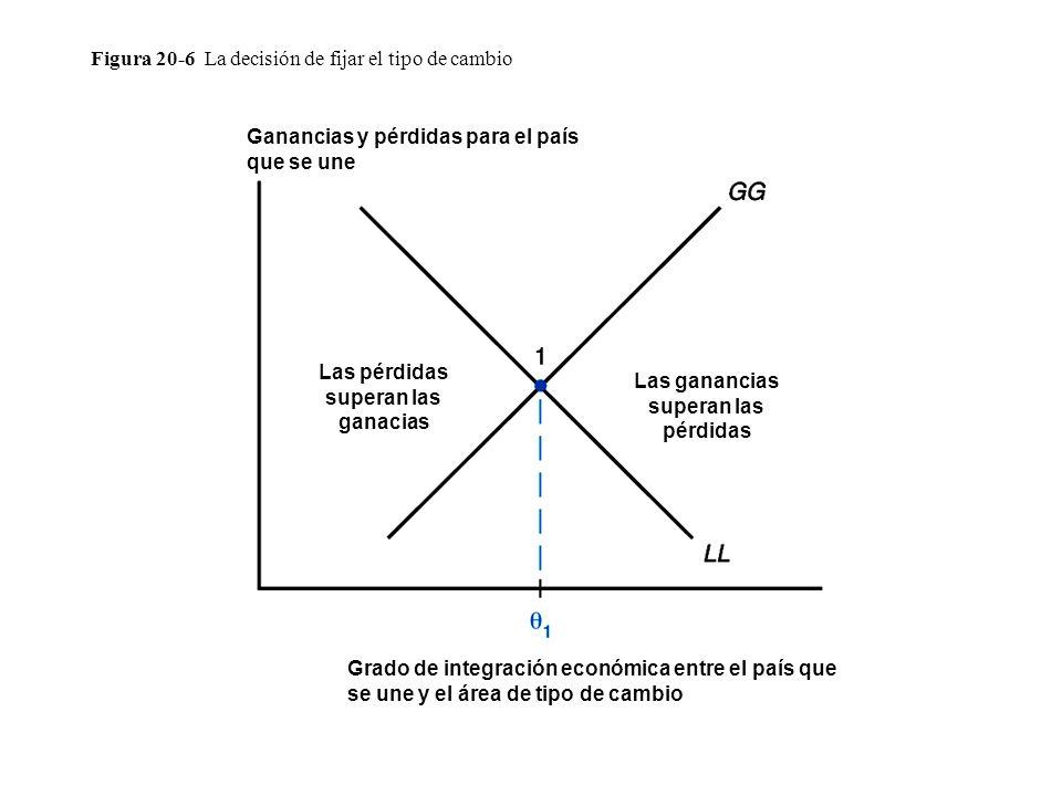 Figura 20-6 La decisión de fijar el tipo de cambio