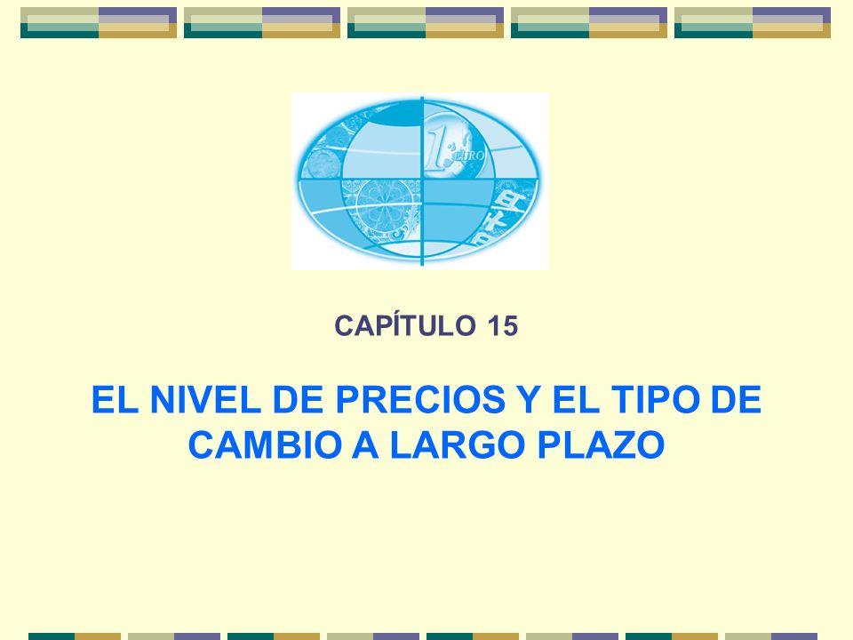 CAPÍTULO 15 EL NIVEL DE PRECIOS Y EL TIPO DE CAMBIO A LARGO PLAZO
