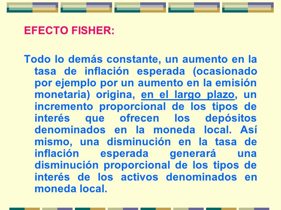 EFECTO FISHER:
