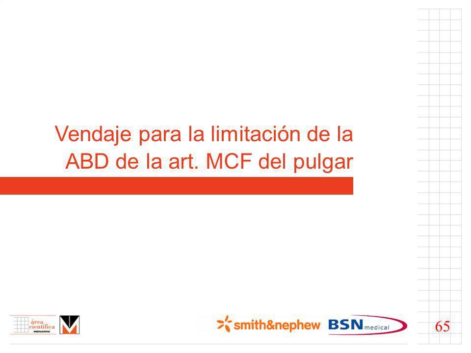 Vendaje para la limitación de la ABD de la art. MCF del pulgar