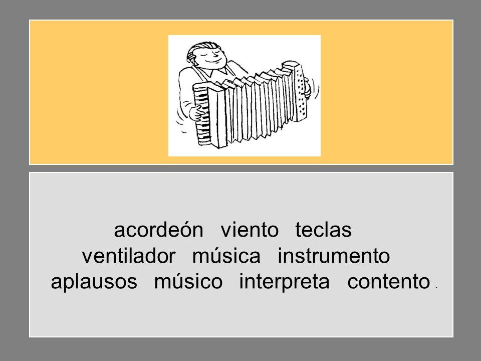 acordeón viento teclas ventilador música instrumento