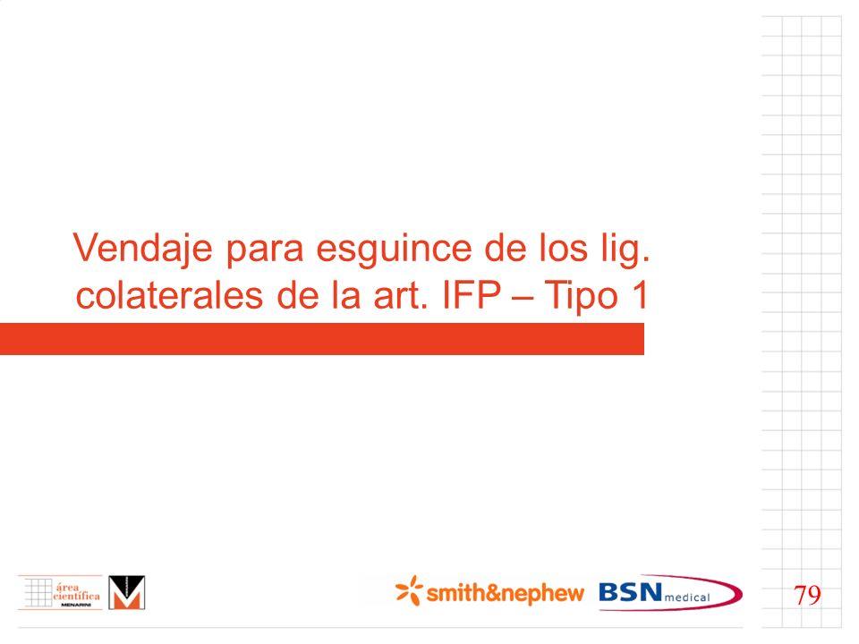 Vendaje para esguince de los lig. colaterales de la art. IFP – Tipo 1