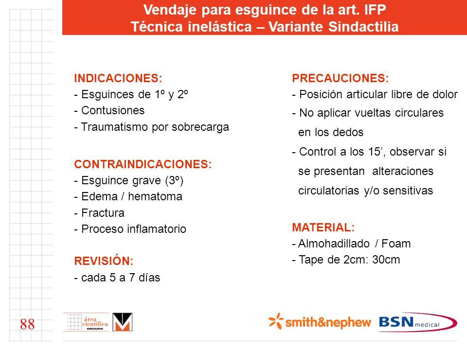 88 Vendaje para esguince de la art. IFP