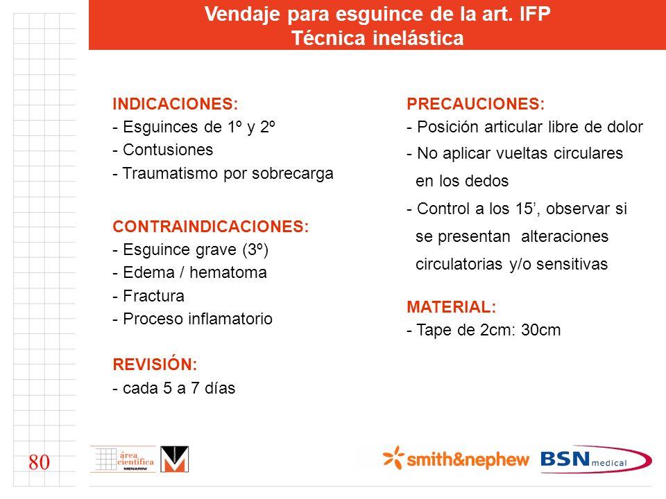 Vendaje para esguince de la art. IFP