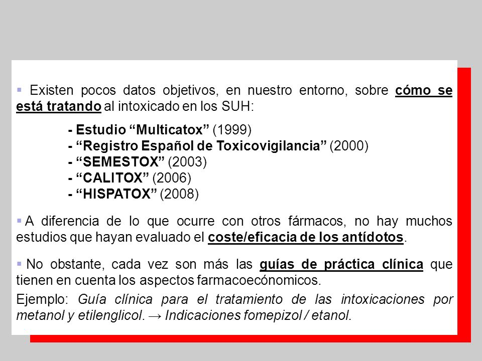 - Estudio Multicatox (1999)