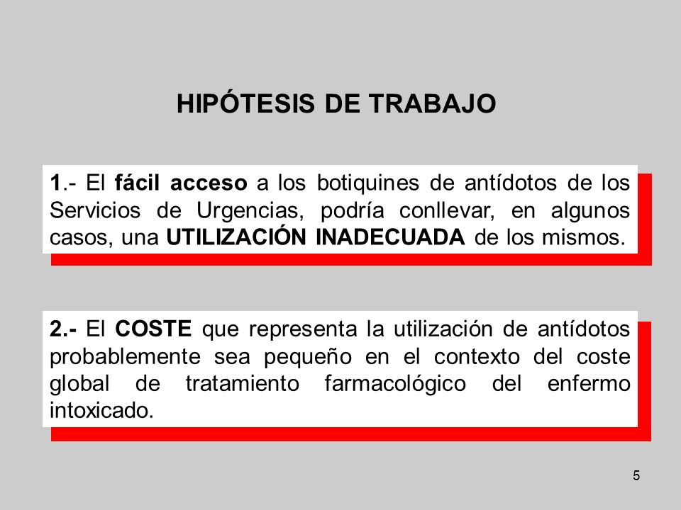HIPÓTESIS DE TRABAJO
