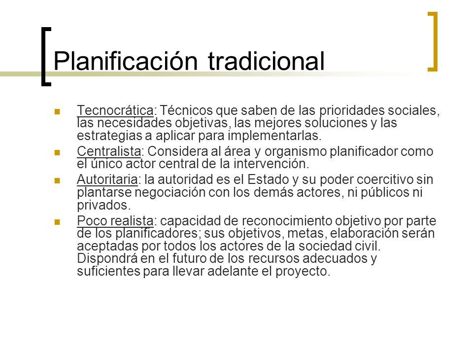 Planificación tradicional