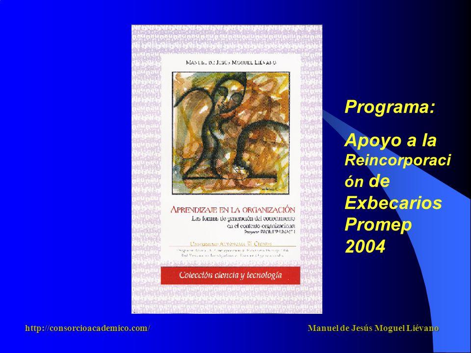 Apoyo a la Reincorporación de Exbecarios Promep 2004