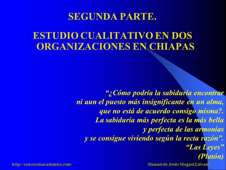 ESTUDIO CUALITATIVO EN DOS ORGANIZACIONES EN CHIAPAS