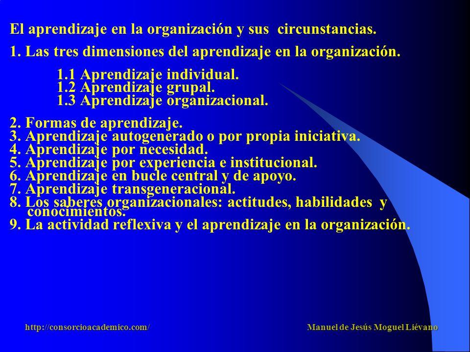 El aprendizaje en la organización y sus circunstancias.