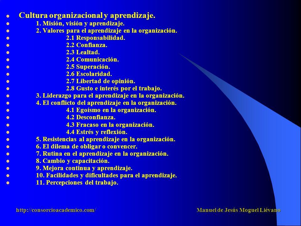 Cultura organizacional y aprendizaje. 1. Misión, visión y aprendizaje.