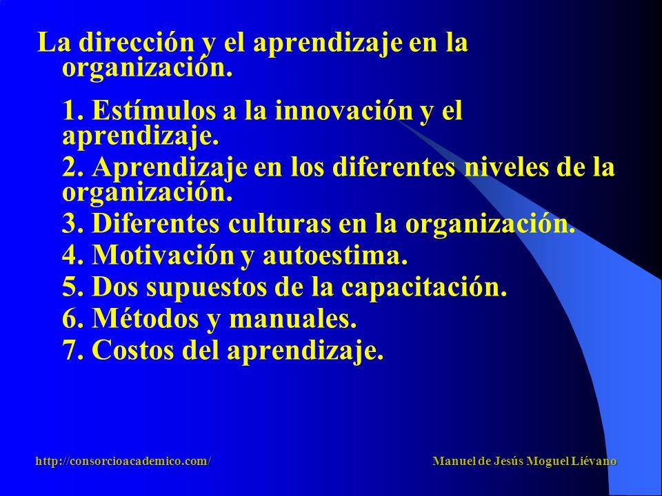 La dirección y el aprendizaje en la organización.