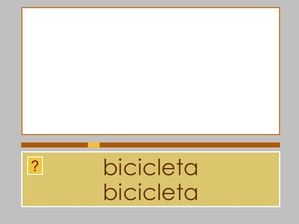 bicicleta bicicleta