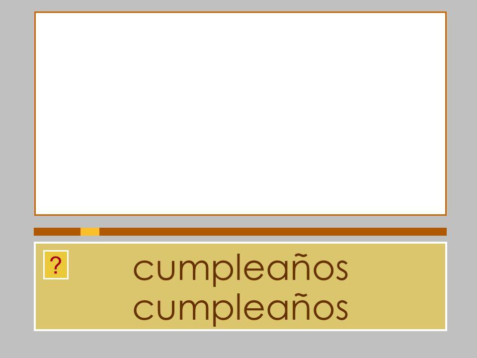 cumpleaños cumpleaños