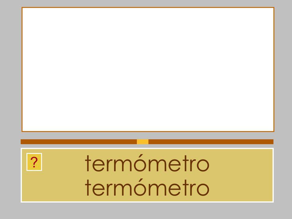 termómetro termómetro