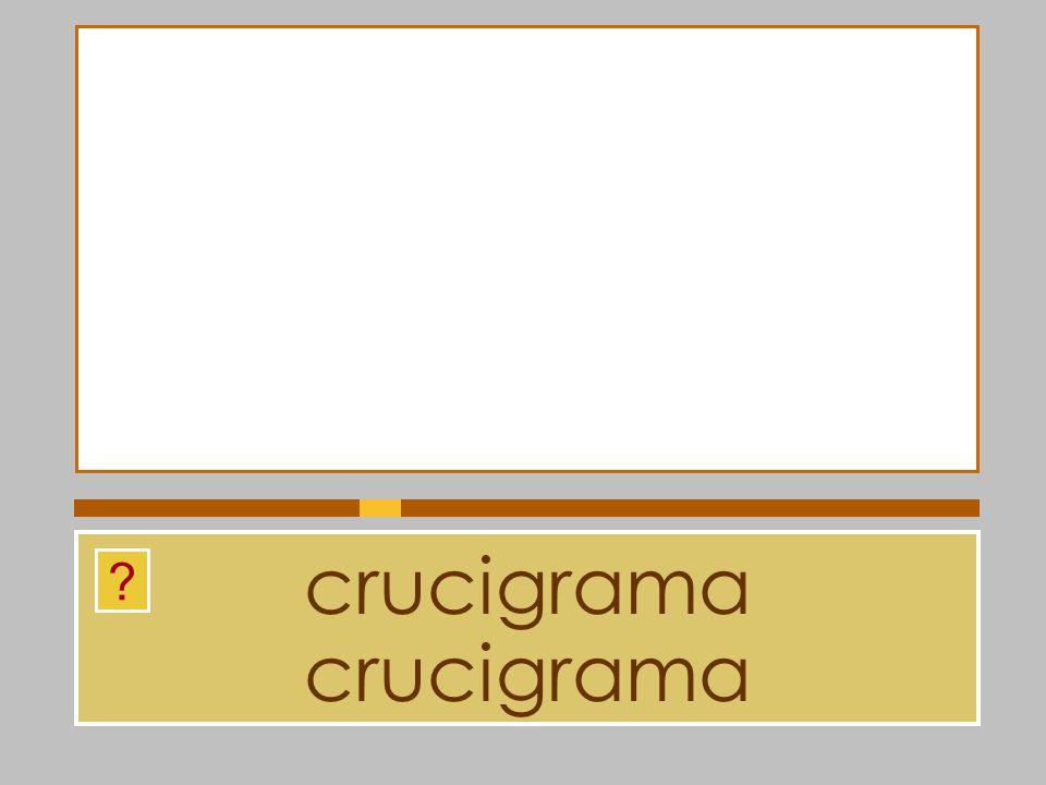 crucigrama crucigrama