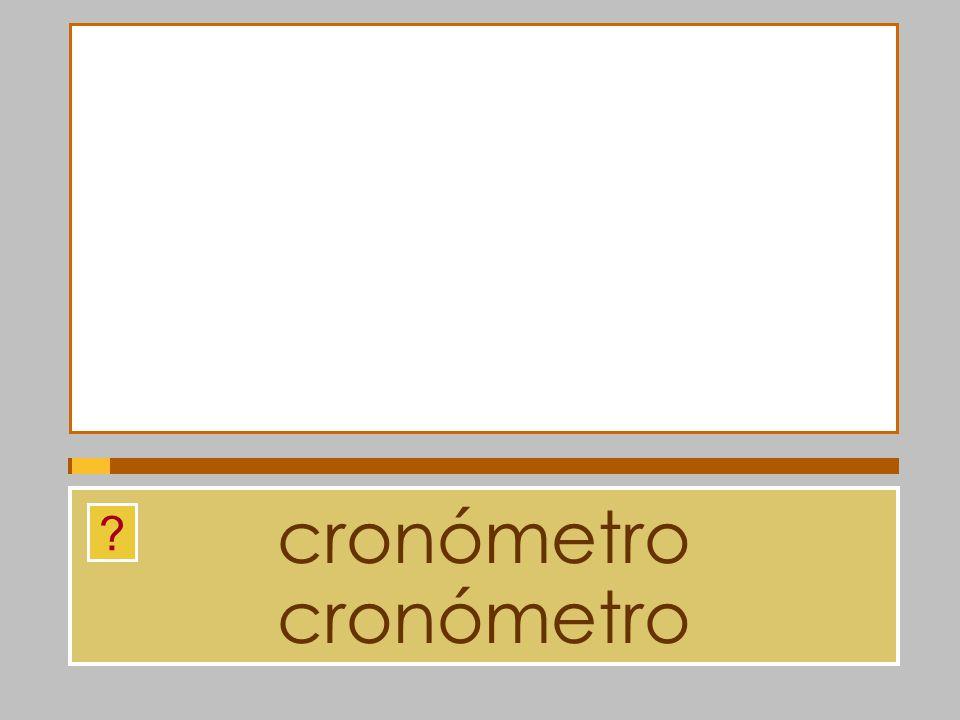 cronómetro cronómetro