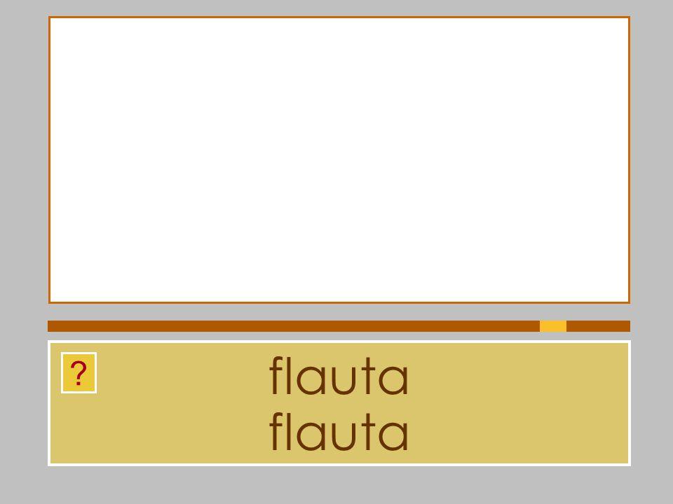 flauta flauta
