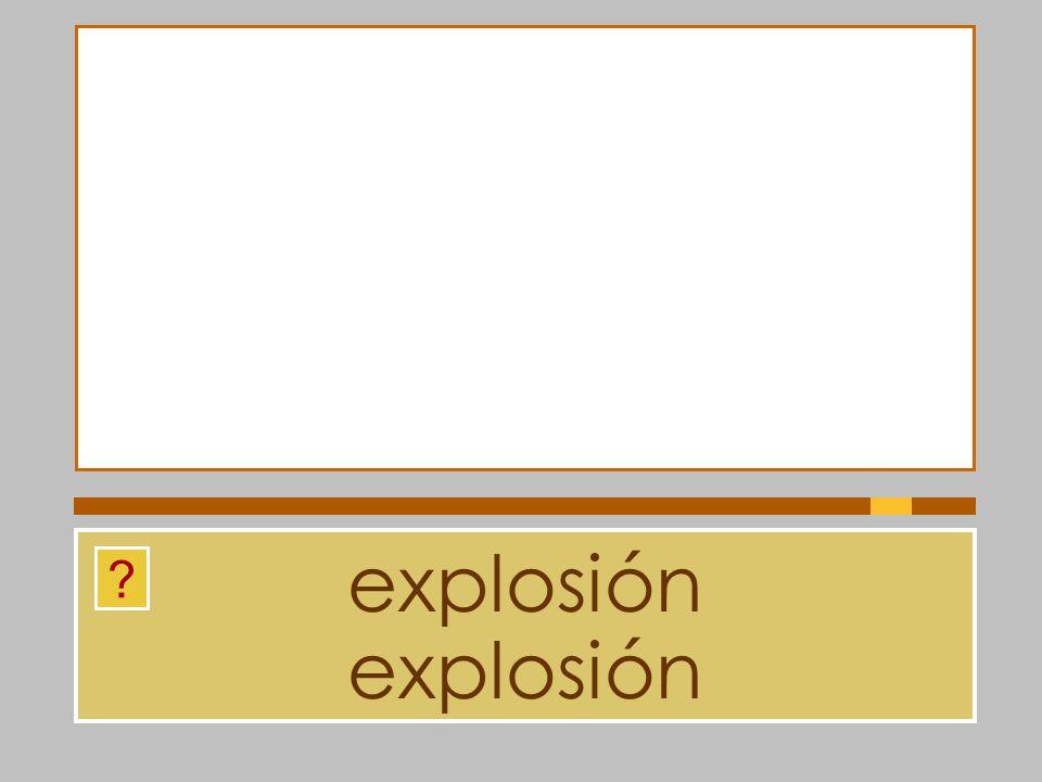 explosión explosión