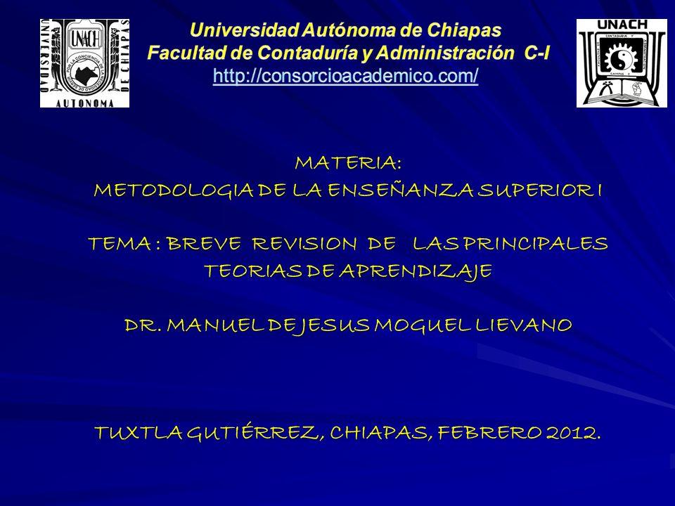 METODOLOGIA DE LA ENSEÑANZA SUPERIOR I