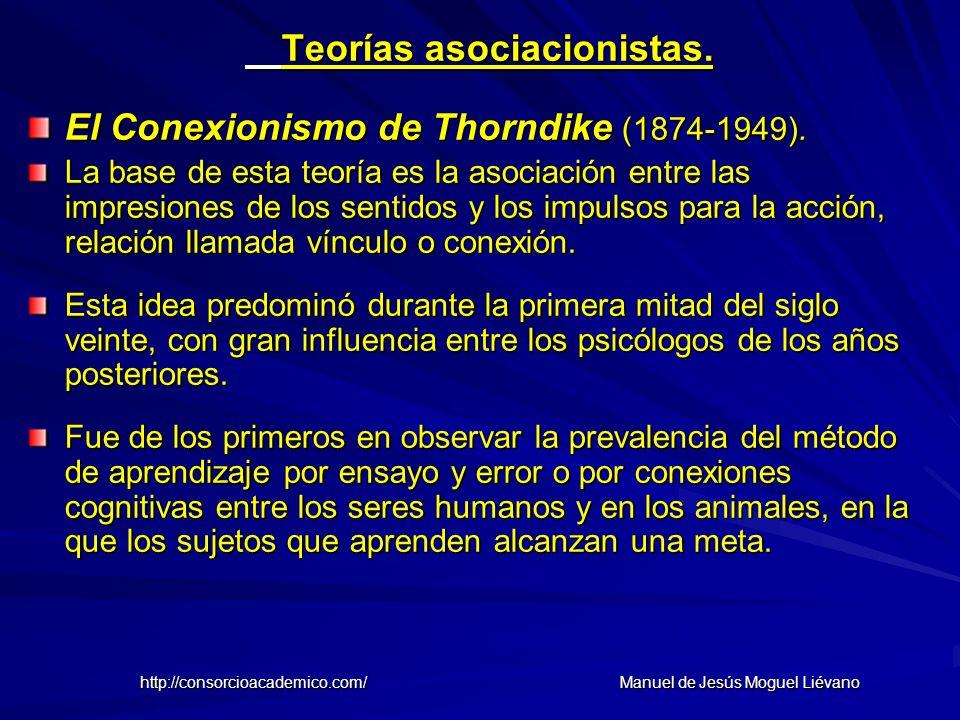 Teorías asociacionistas.