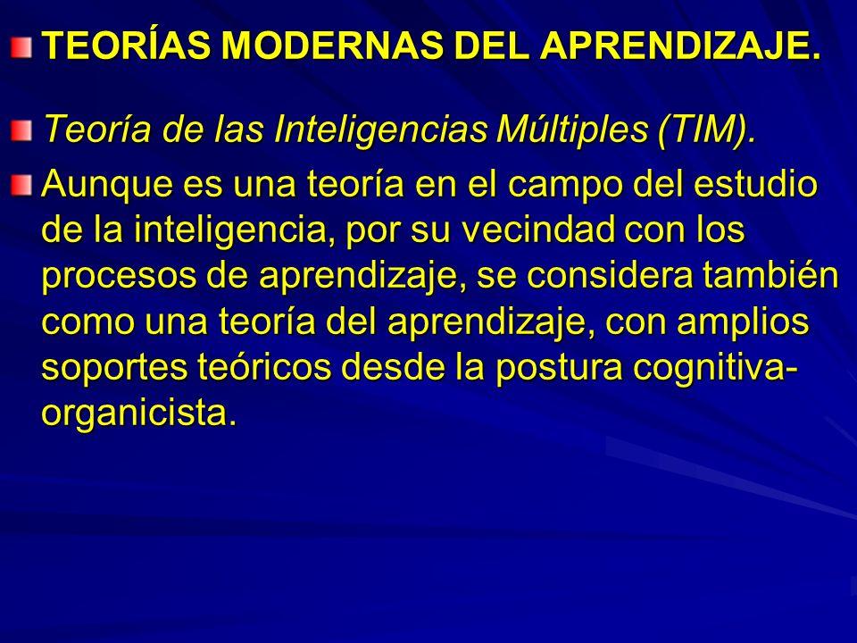 TEORÍAS MODERNAS DEL APRENDIZAJE.
