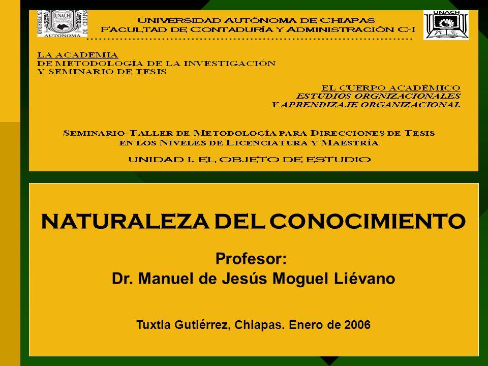 NATURALEZA DEL CONOCIMIENTO