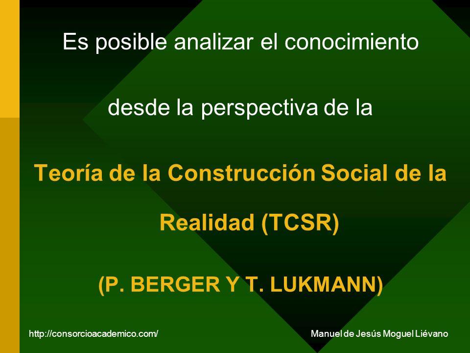 Teoría de la Construcción Social de la Realidad (TCSR)