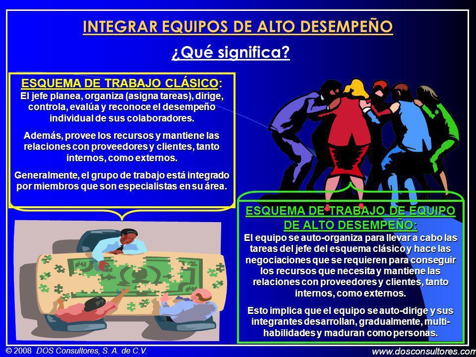 INTEGRAR EQUIPOS DE ALTO DESEMPEÑO