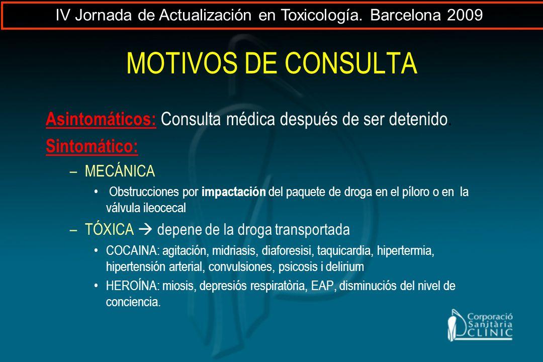 IV Jornada de Actualización en Toxicología. Barcelona 2009