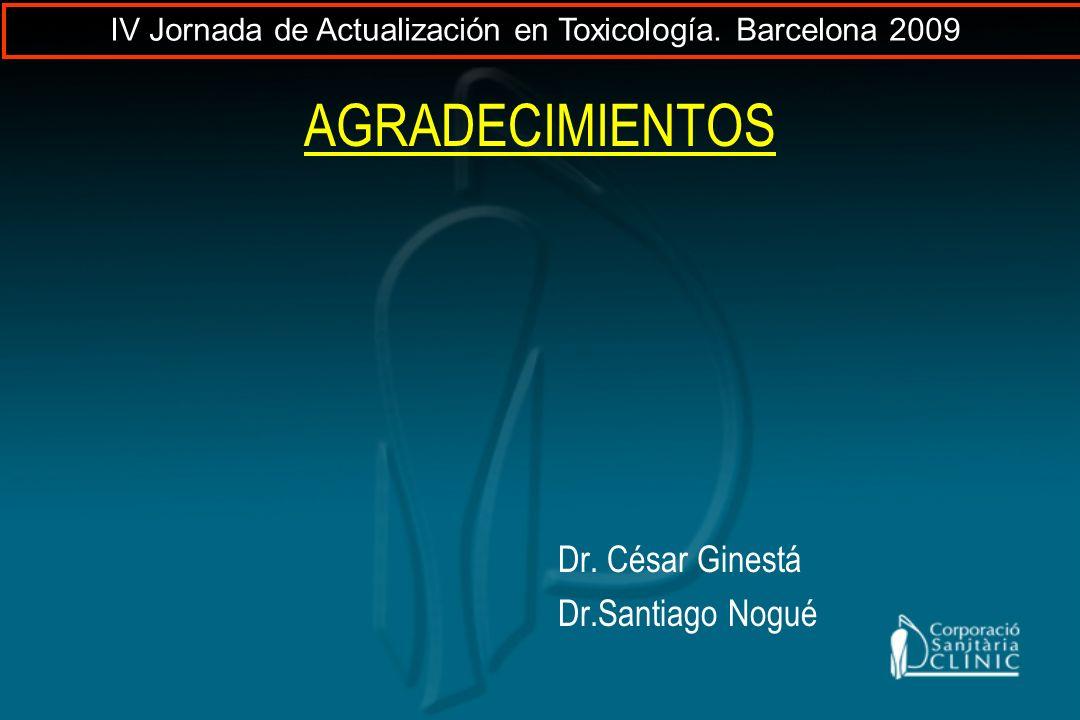 AGRADECIMIENTOS Dr. César Ginestá Dr.Santiago Nogué