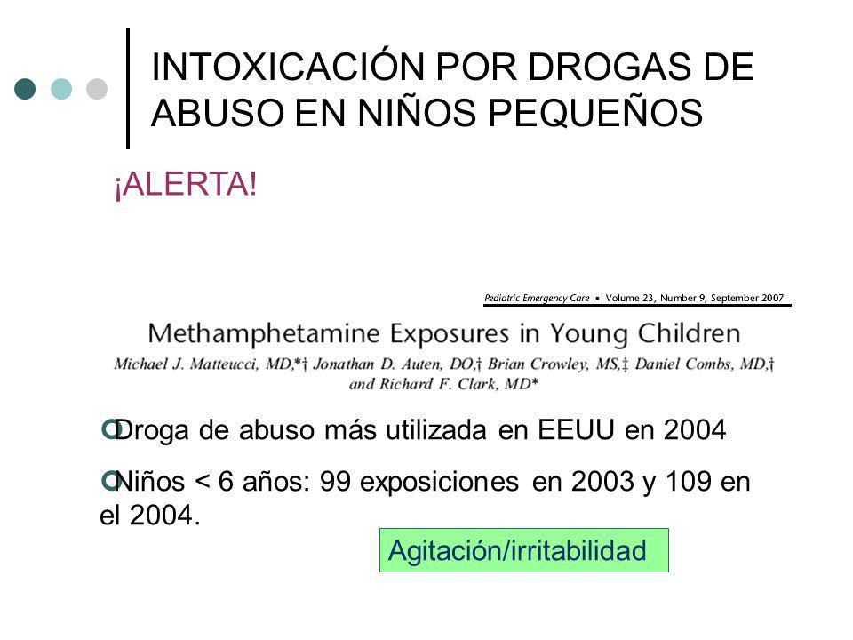 INTOXICACIÓN POR DROGAS DE ABUSO EN NIÑOS PEQUEÑOS
