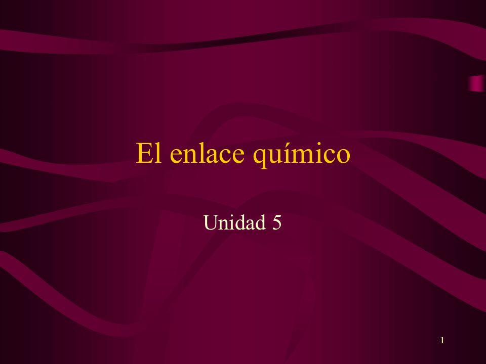 El enlace químico Unidad 5