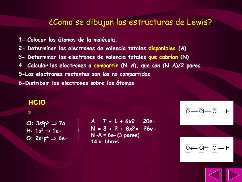 ¿Como se dibujan las estructuras de Lewis