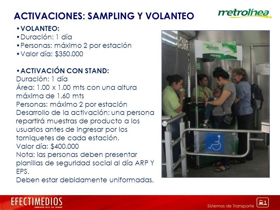 ACTIVACIONES: SAMPLING Y VOLANTEO