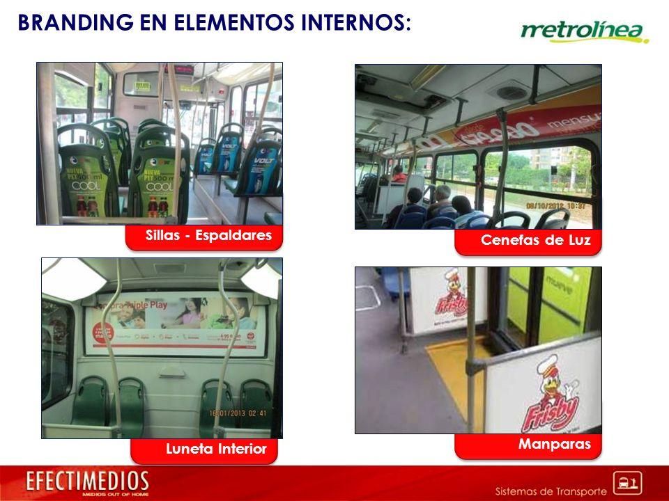 BRANDING EN ELEMENTOS INTERNOS: