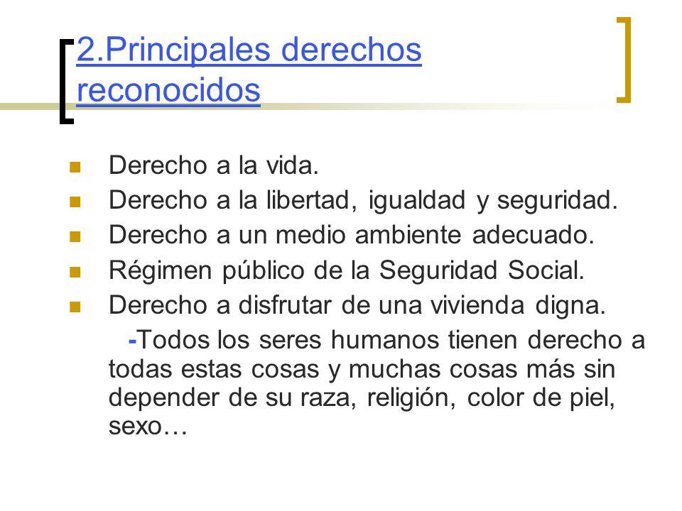 2.Principales derechos reconocidos