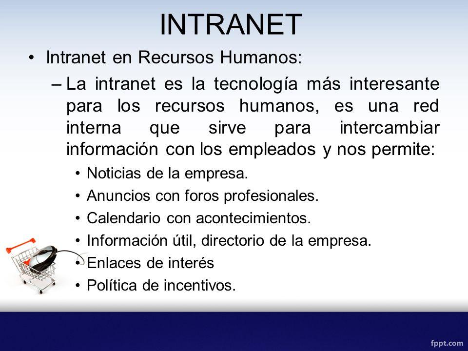 INTRANET Intranet en Recursos Humanos: