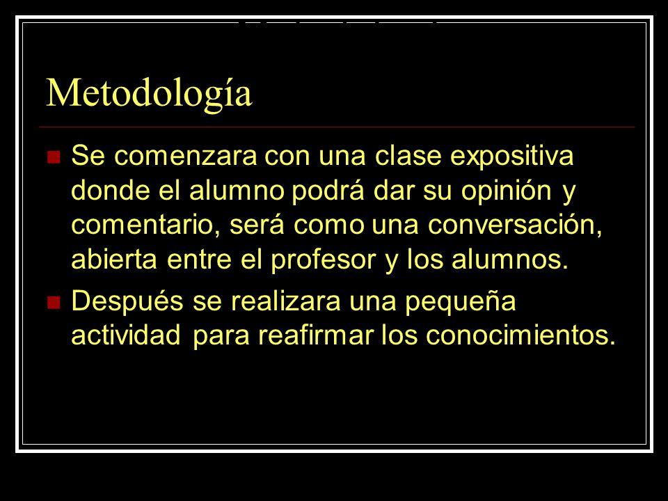 Metodología Metodología