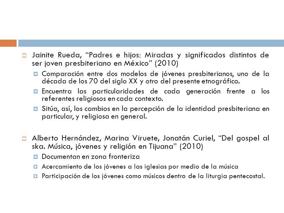 Jainite Rueda, Padres e hijos: Miradas y significados distintos de ser joven presbiteriano en México (2010)