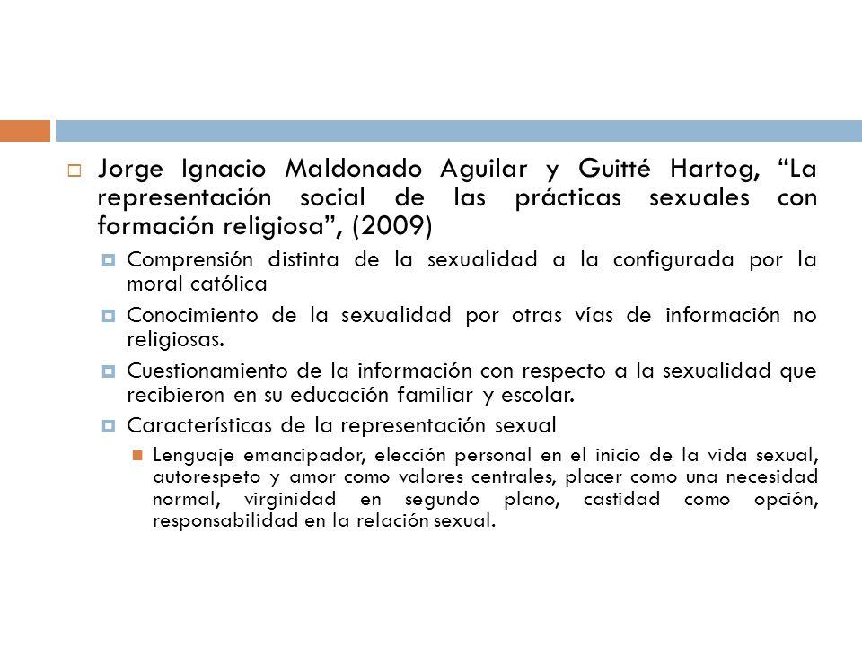 Jorge Ignacio Maldonado Aguilar y Guitté Hartog, La representación social de las prácticas sexuales con formación religiosa , (2009)