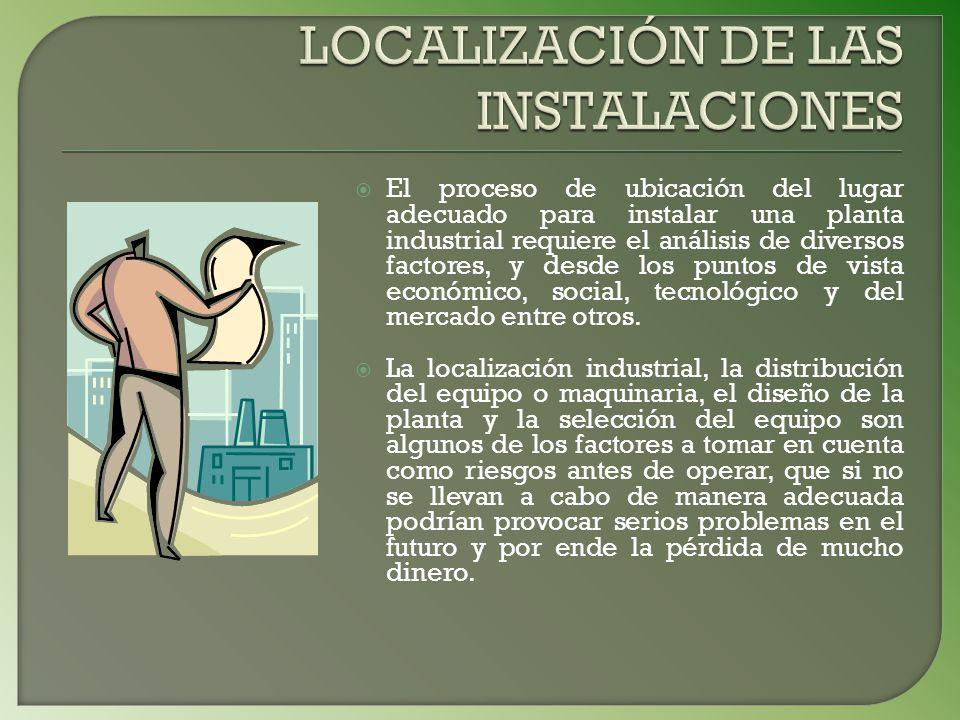 LOCALIZACIÓN DE LAS INSTALACIONES