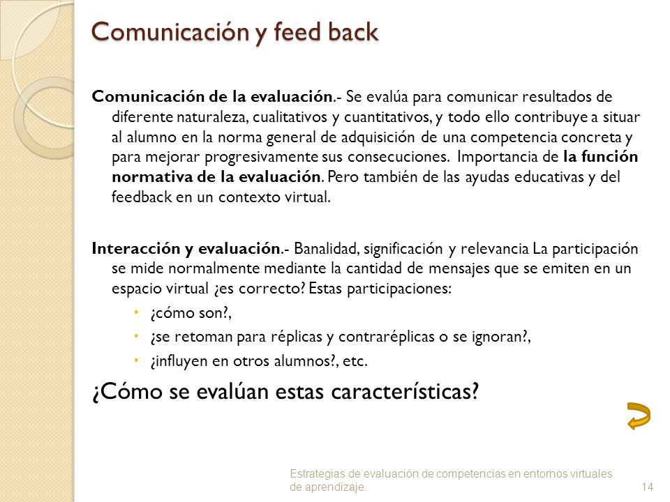 Comunicación y feed back