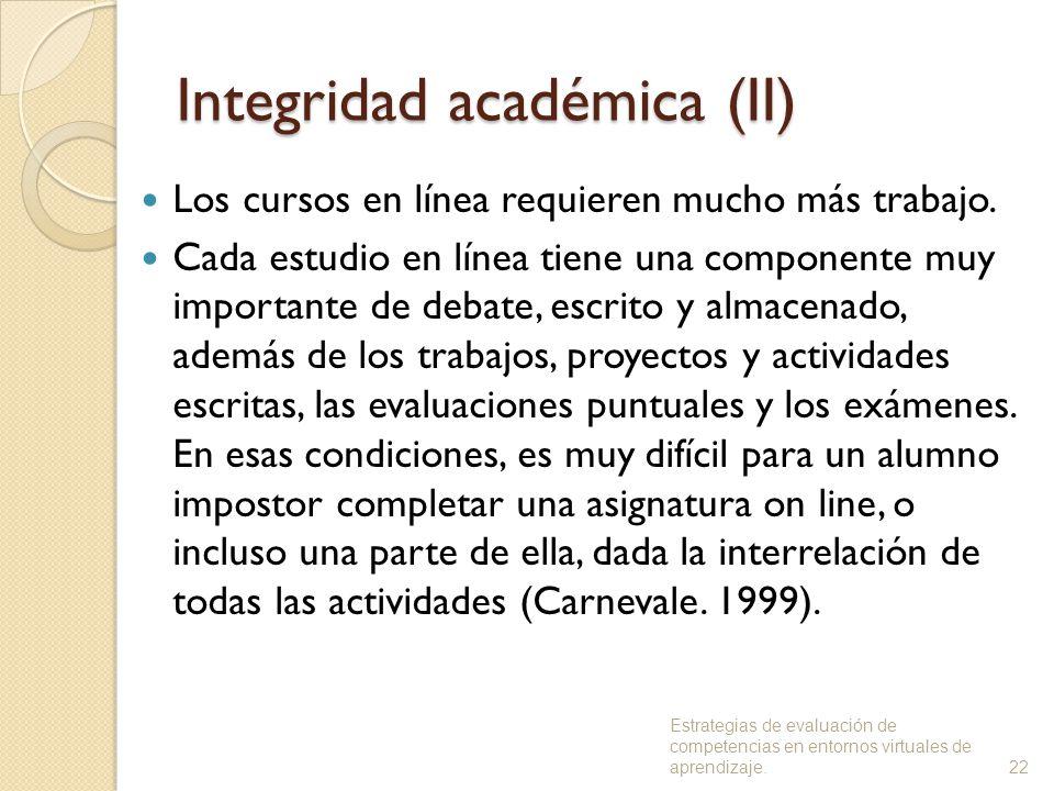 Integridad académica (II)