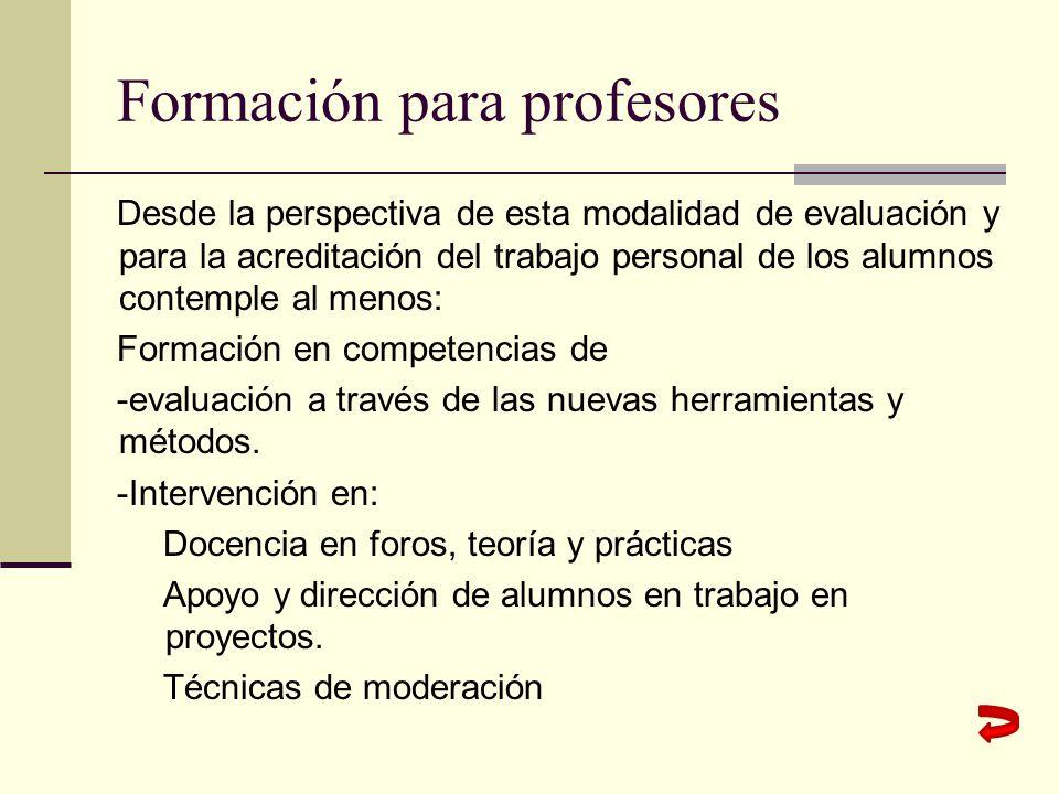 Formación para profesores